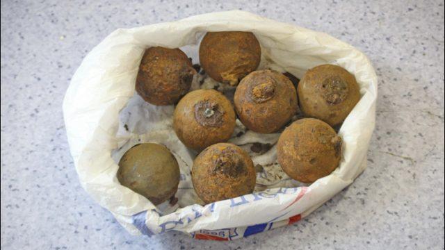 Минчанин сдал в милицию восемь гранат времён Первой мировой войны