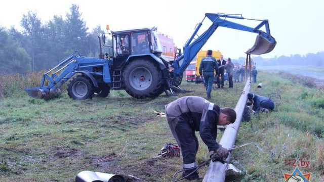 В Заславле произошла авария с разгерметизацией газопровода