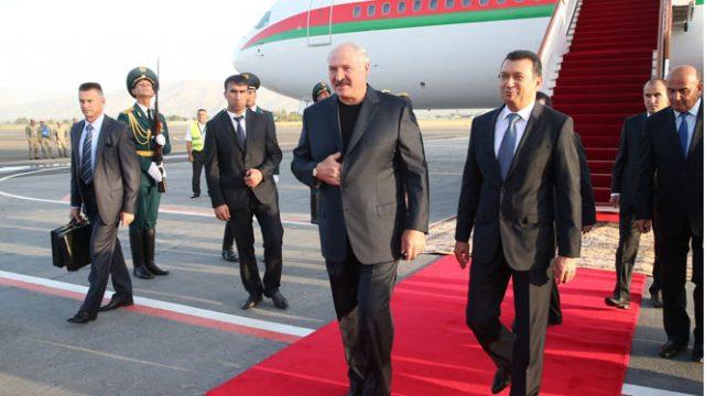 Лукашенко прибыл с рабочим визитом в Таджикистан