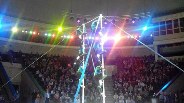 В минском цирке акробат упал с высоты 5 метров