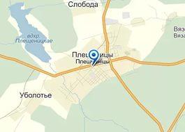Плещеницкое училище на карте