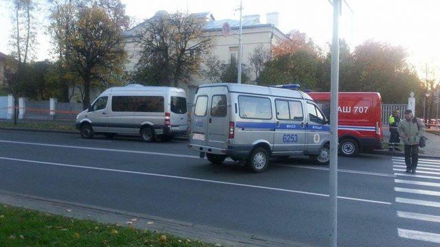 В Минске из-за сообщения лже-минера перекрывали улицу