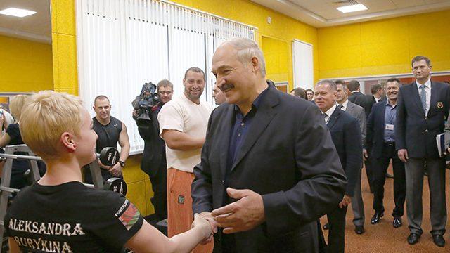 Лукашенко про спортзалы