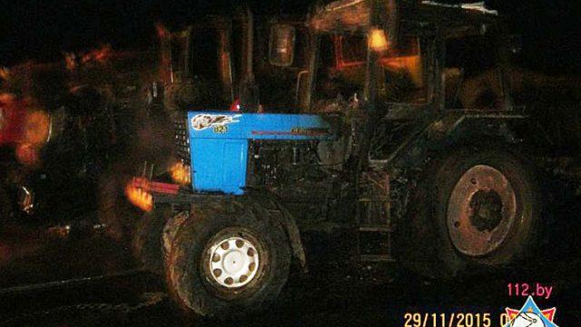 Сгоревшие тракторы