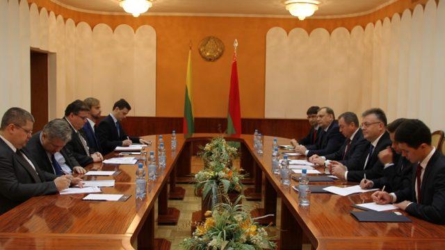 визит в Республику Беларусь Министра иностранных дел Литовской Республики Линаса Линкявичюса