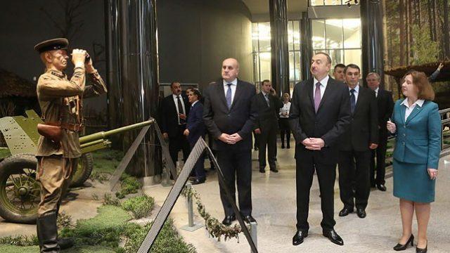 Алиев в музее