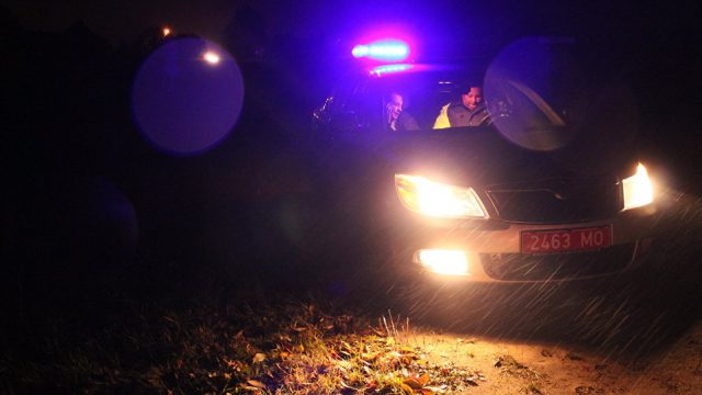 В Минске на пешеходном переходе автомобиль не пропустил трех инспекторов ГАИ