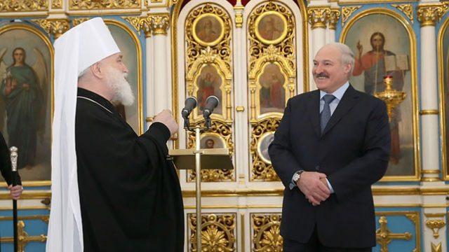 Лукашенко в храме