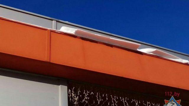 Наледь на крыше