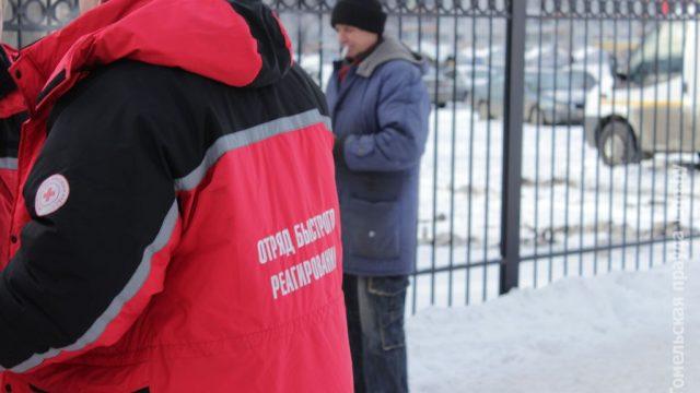 Белорусский Красный Крест помогает бездомным горячим чаем