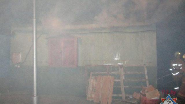 пожар в бытовке