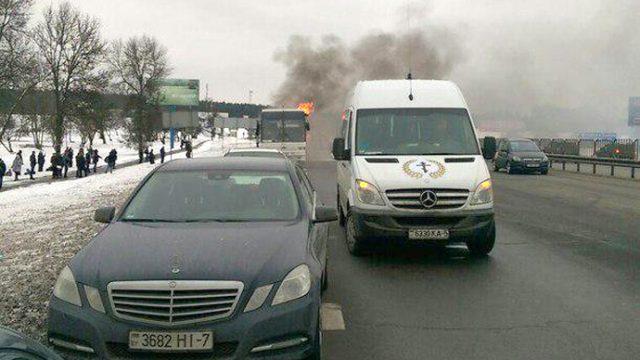 Пожар в автобусе