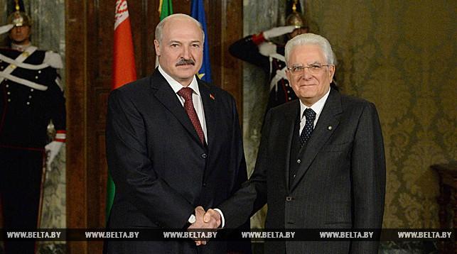 Александр Лукашенко и Серджио Маттарелла