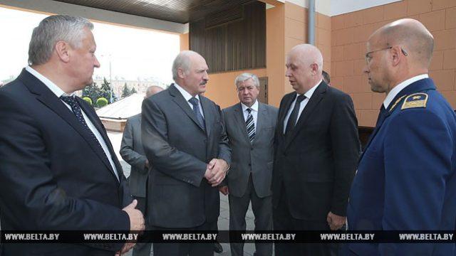 Лукашенко на станции