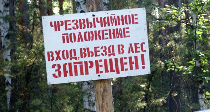 запрет ходить в лес