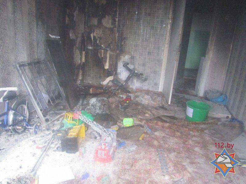 Детская шалость с огнем могла стать предпосылкой пожара вГродно