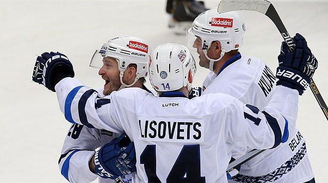 Хоккеисты минского «Динамо» одержали победу над «Ладой» вматче КХЛ