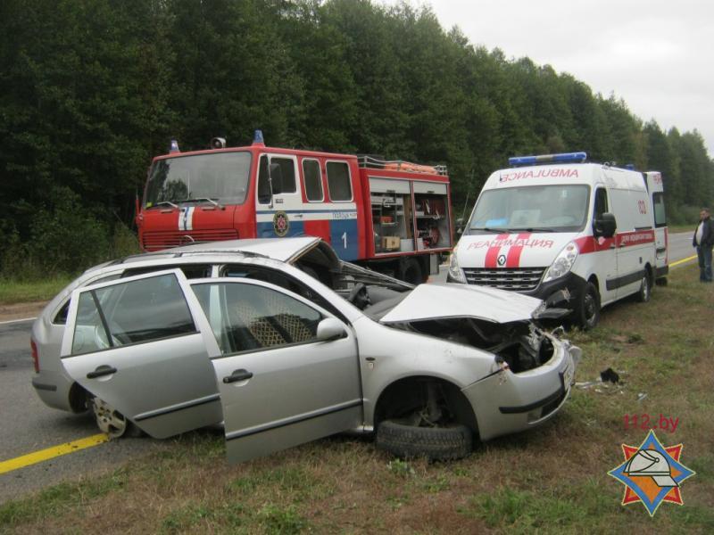 ВПолоцком районе автомобиль съехал вкювет иперевернулся