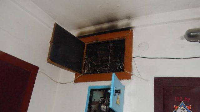 Поломка электрощита вжилом доме вБарановичах испугала местных граждан