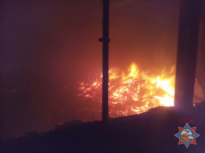 Пожар назаводе вБарановичах мог начаться из-за электрообогревателя