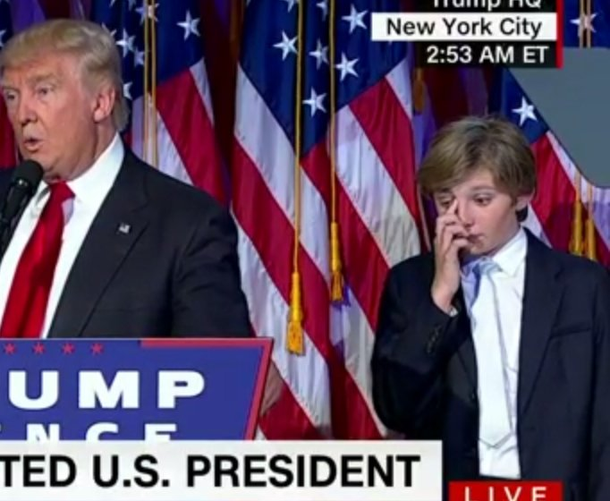 Винтернете подчеркнули сонное состояние сына Трампа впроцессе речи отца