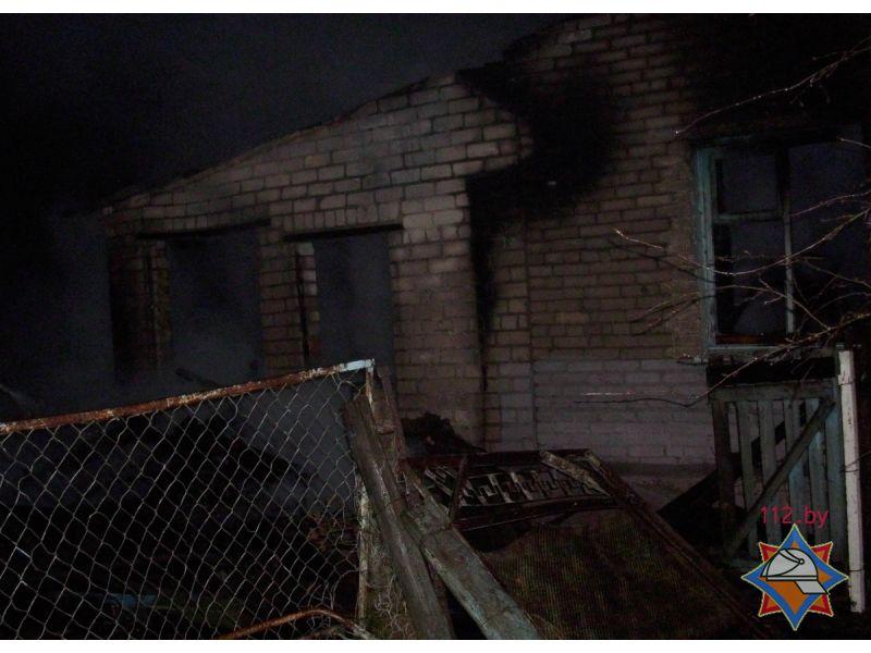 Напожаре вЧашникском районе умер мужчина