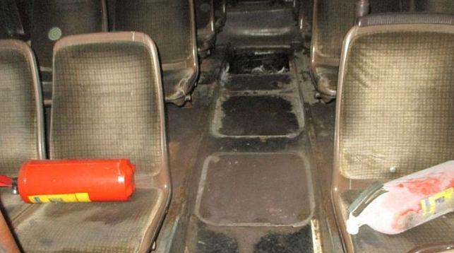 горел автобус