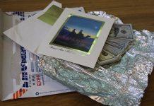 Письмо с долларами
