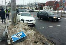 упал светофор