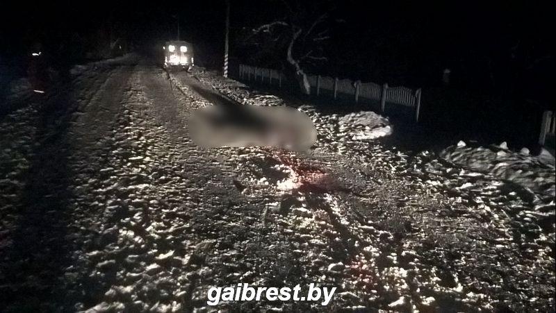 ВПинском районе женщину, которая лежала напроезжей части, переехали два автомобиля