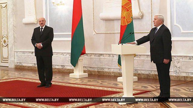 Александр Лукашенко и Виктор Рябцев