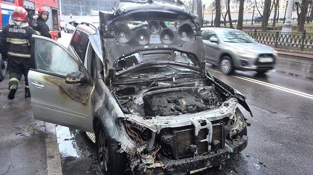 Пожар в машине