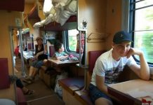 Коля Лукашенко в поезде