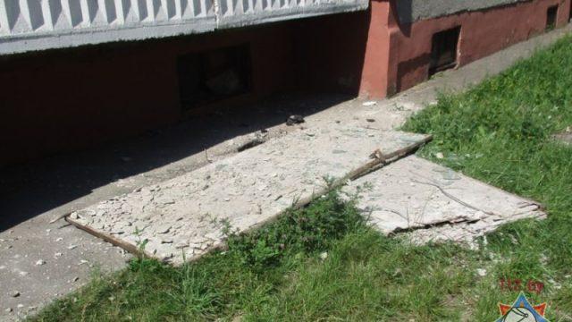 обрушился балкон