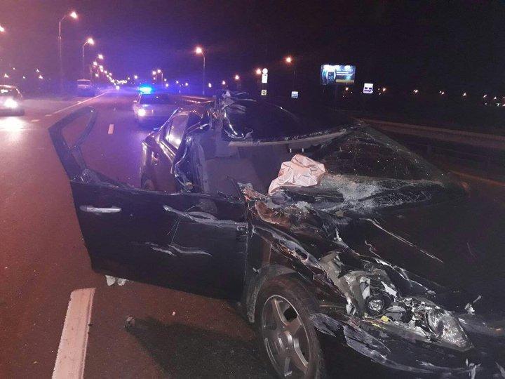 ГАИ: наМКАД шофёр Хонда заснул зарулем иврезался вфуру