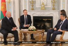 Александр Лукашенко и Зигмар Габриэль
