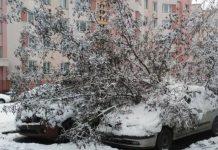 Снег и машины