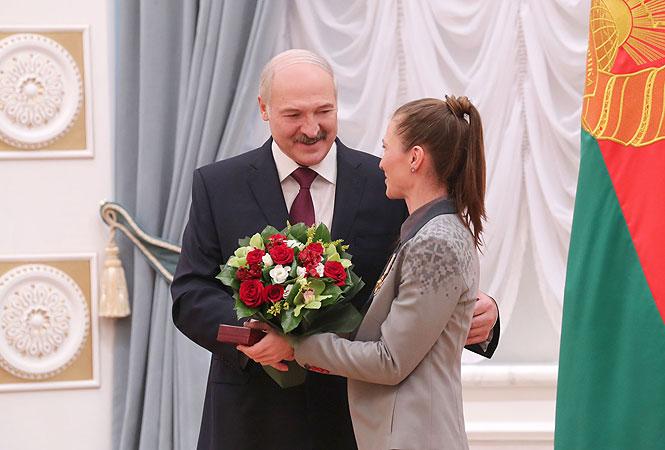 Лукашенко и Домрачева