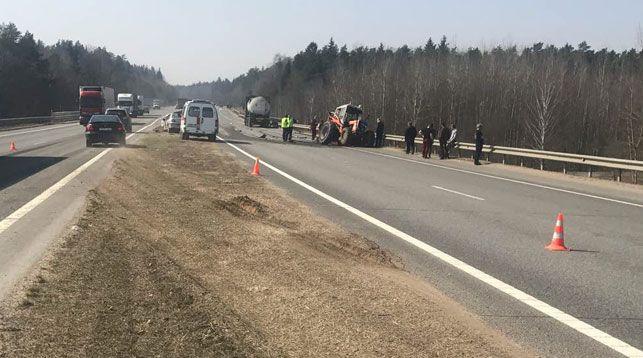 Дорожный рабочий умер вДТП натрассе М1