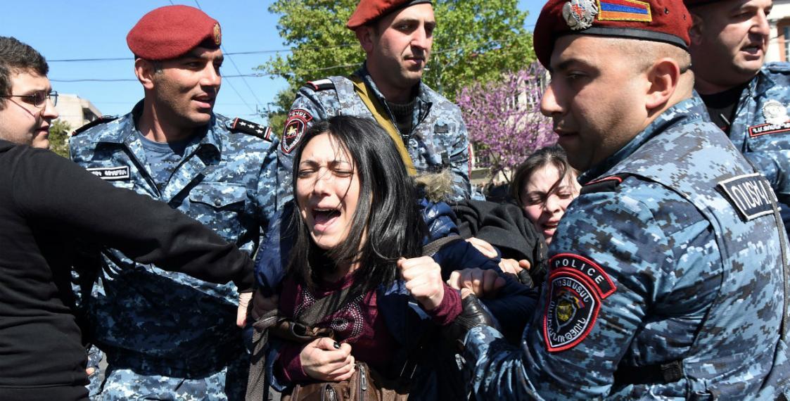 Акция в Ереване