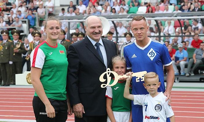 Лукашенко на стадионе
