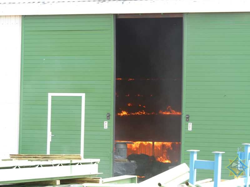 Пожар на лесопилке