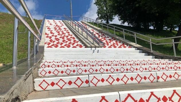 Лестница - вышиванка