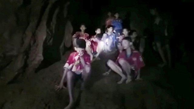 дети застряли в пещере