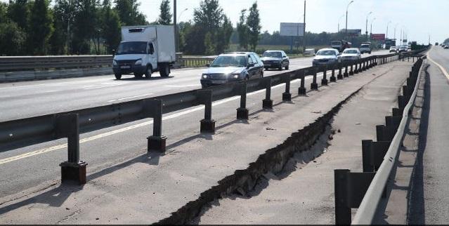 Просевший мост на МКАД в районе Лошицы закроют для движения полностью