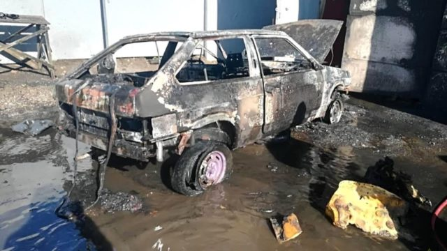 загорелся автомобиль