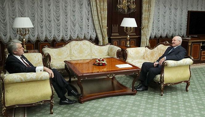 Лукашенко и Ющенко