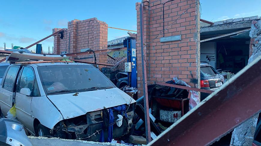 Взрыв в гараже