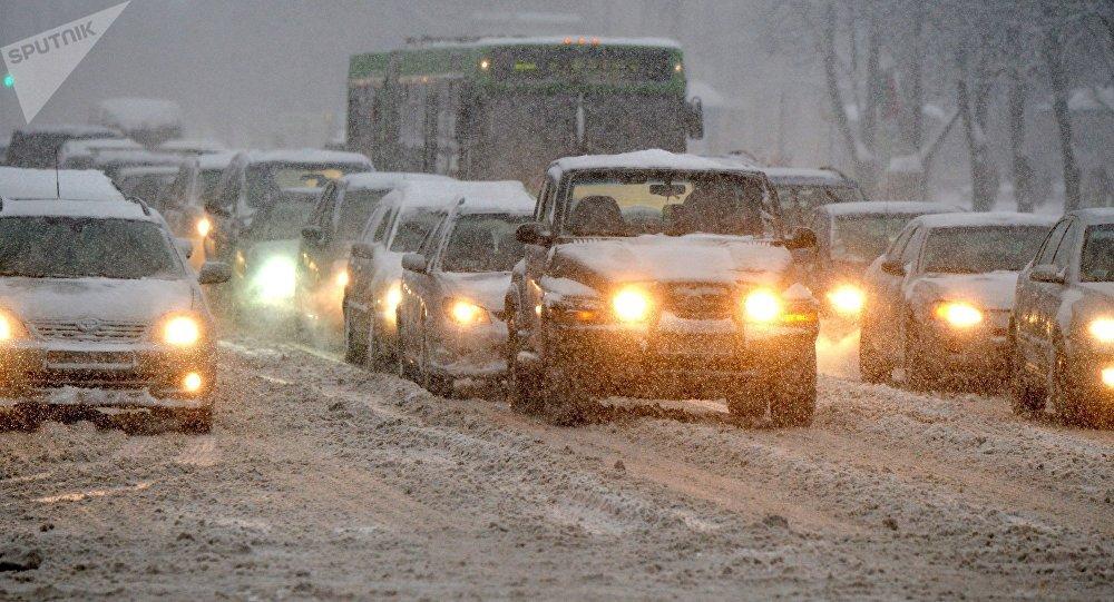 Дороги снег пробки